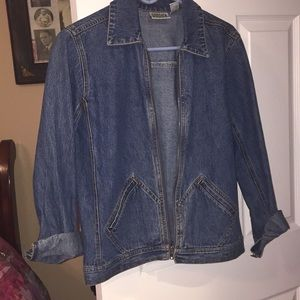 Chico's jean jacket size 0